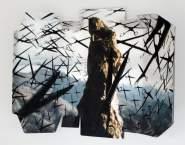 Thriller V (2002) Impresión digital y linoleo sobre papel creysse 250 grs. 460x560x150mm.