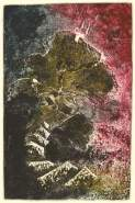 Bajo el volcán (1987) Collagraph. Pl. 585 x 390 mm. Pp. 790 x560mm.